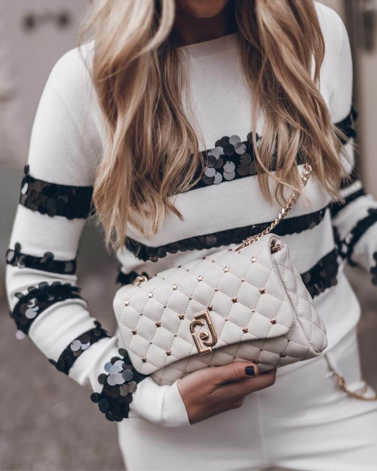 borse e accessori total white