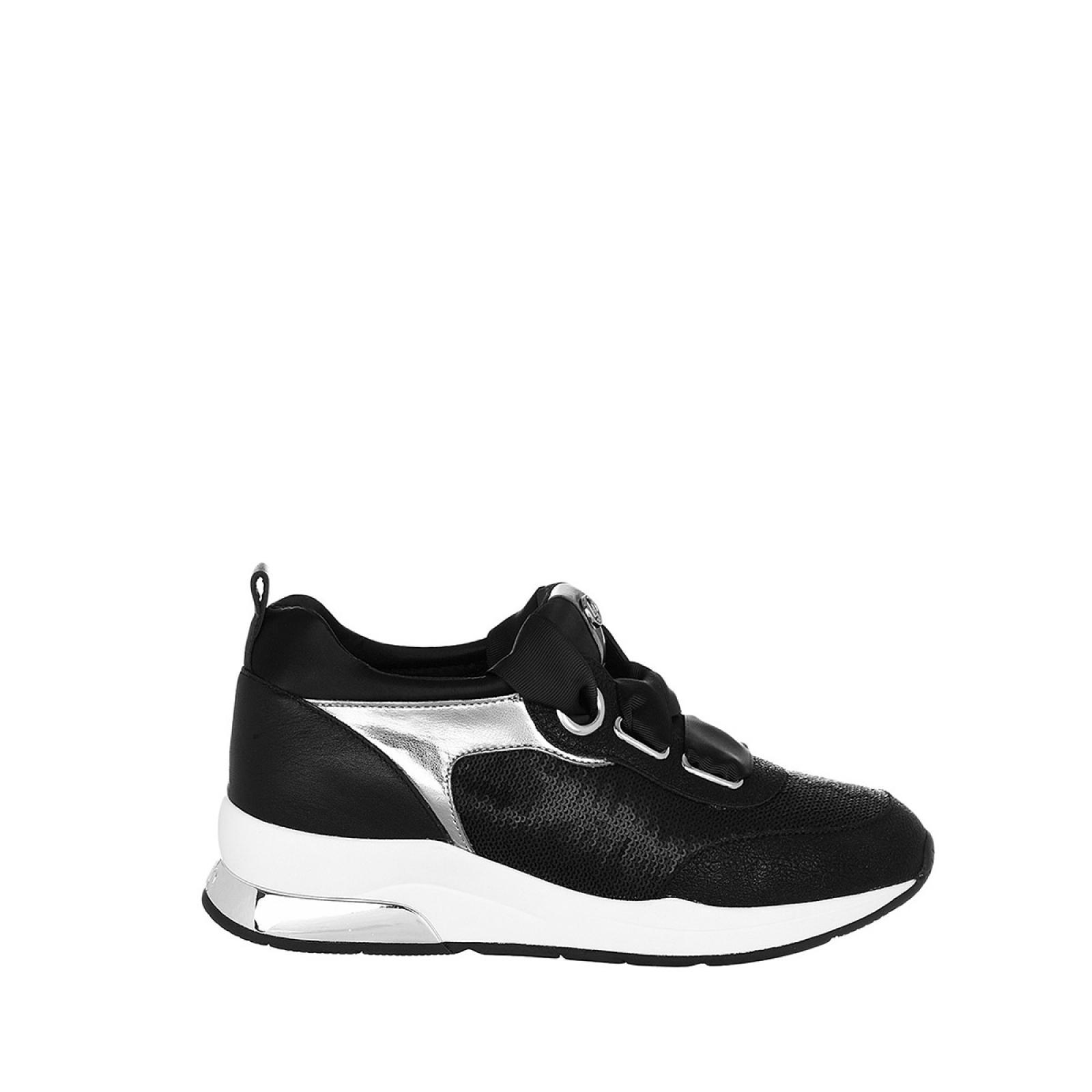 Sneakers Karlie in pelle - BLACK