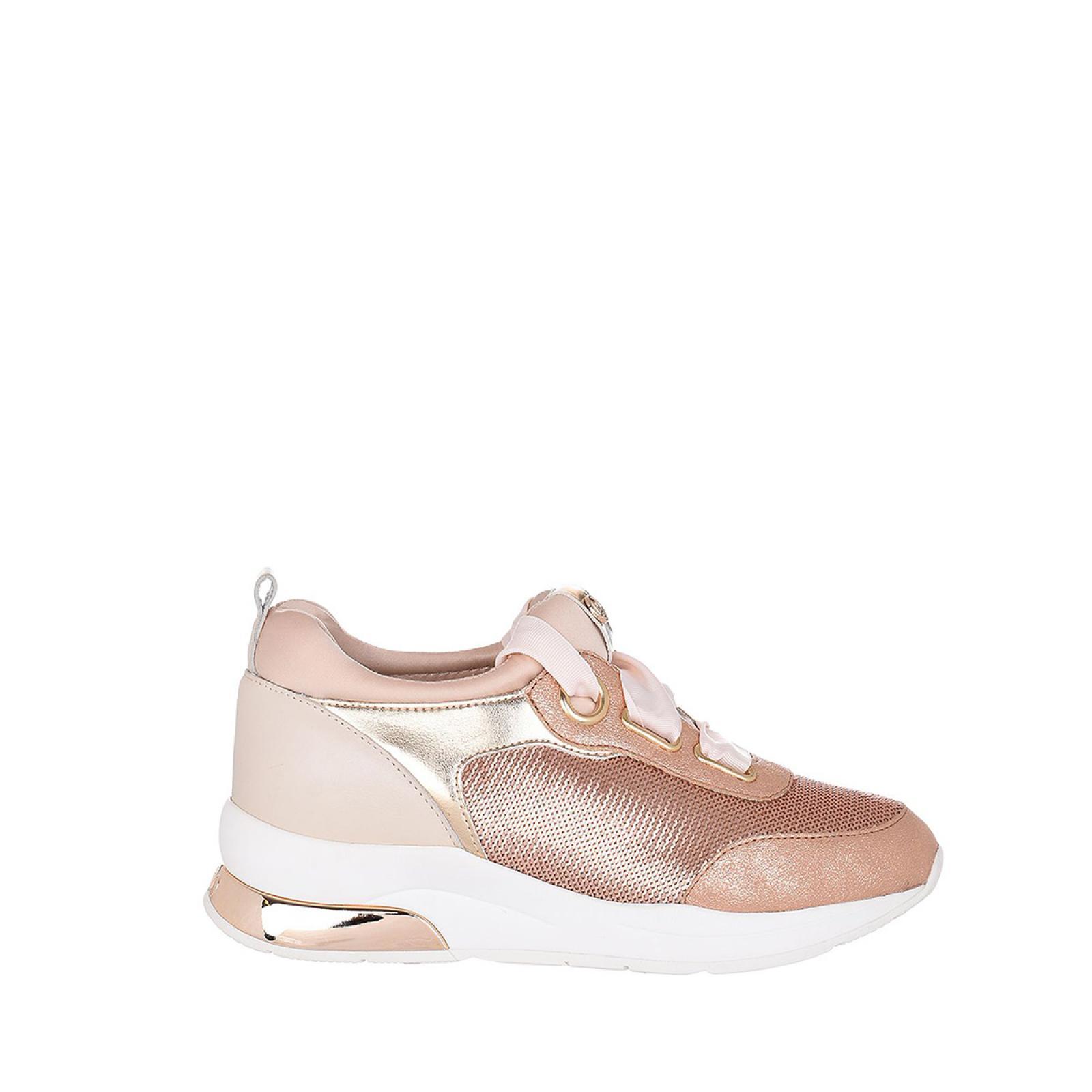 Sneakers Karlie in pelle - ROSE/GOLD
