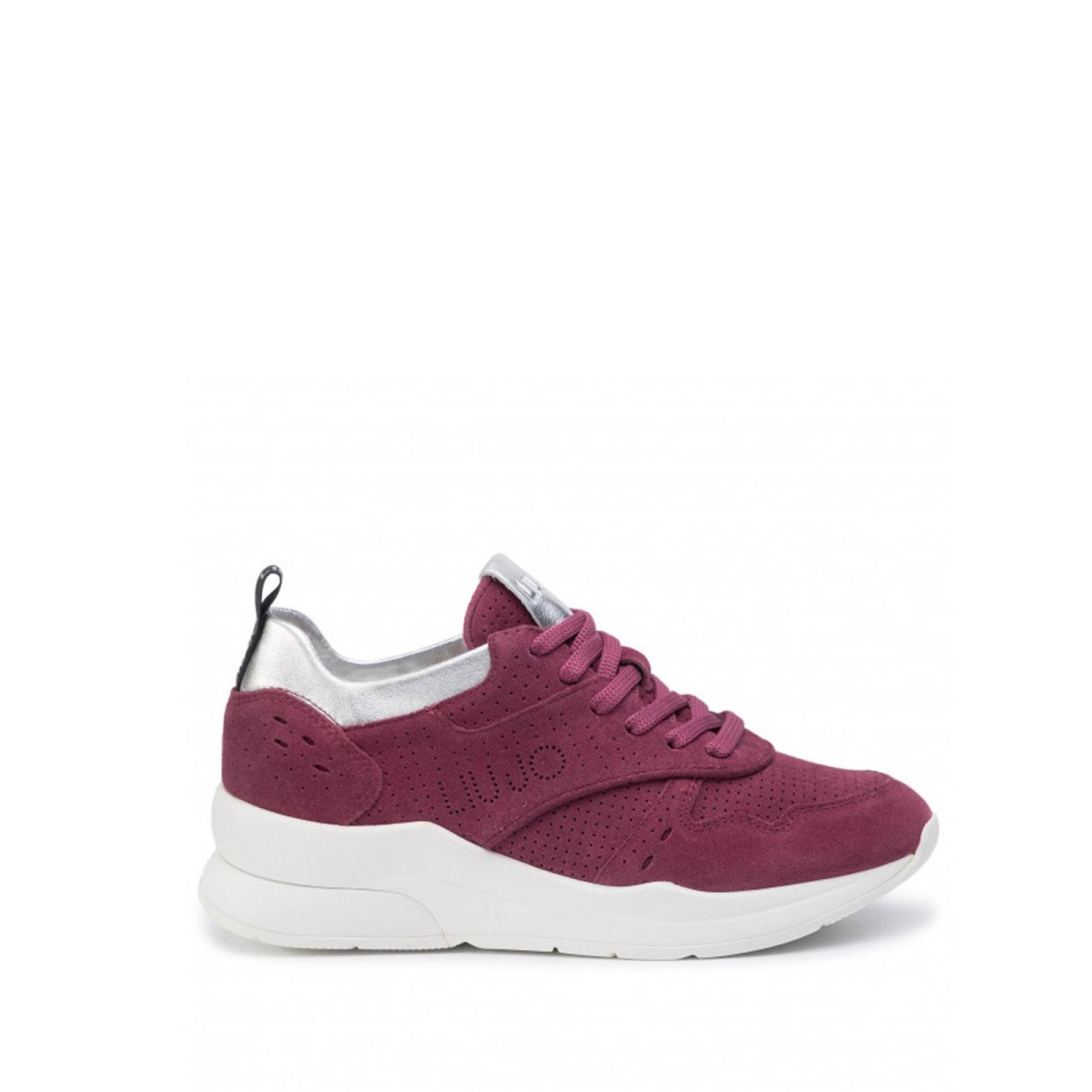 Sneakers Karlie in suede - WINE