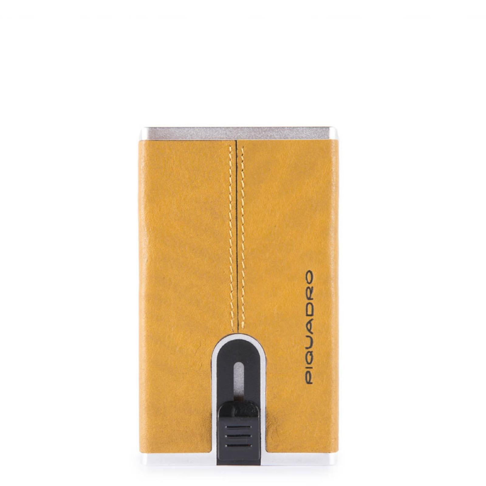 Porta carte di credito con Sliding System Black Square - 1