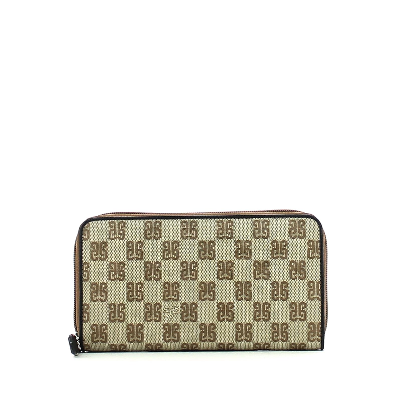 Wallet Zip Monogram-NERO-UN