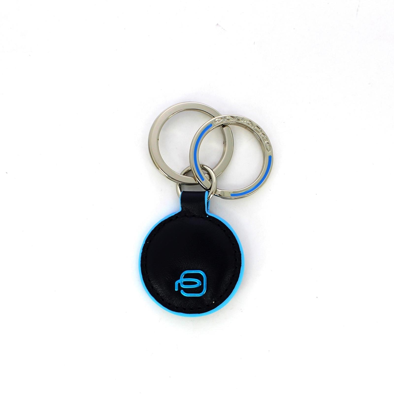 Round double ring keyholder Blue Square