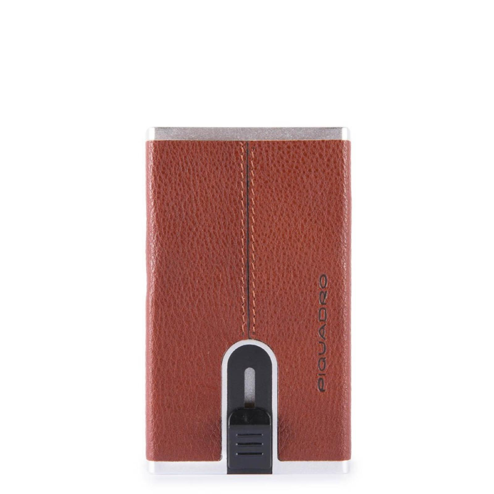 Piquadro Porta carte di credito con Sliding System Black Square - 1