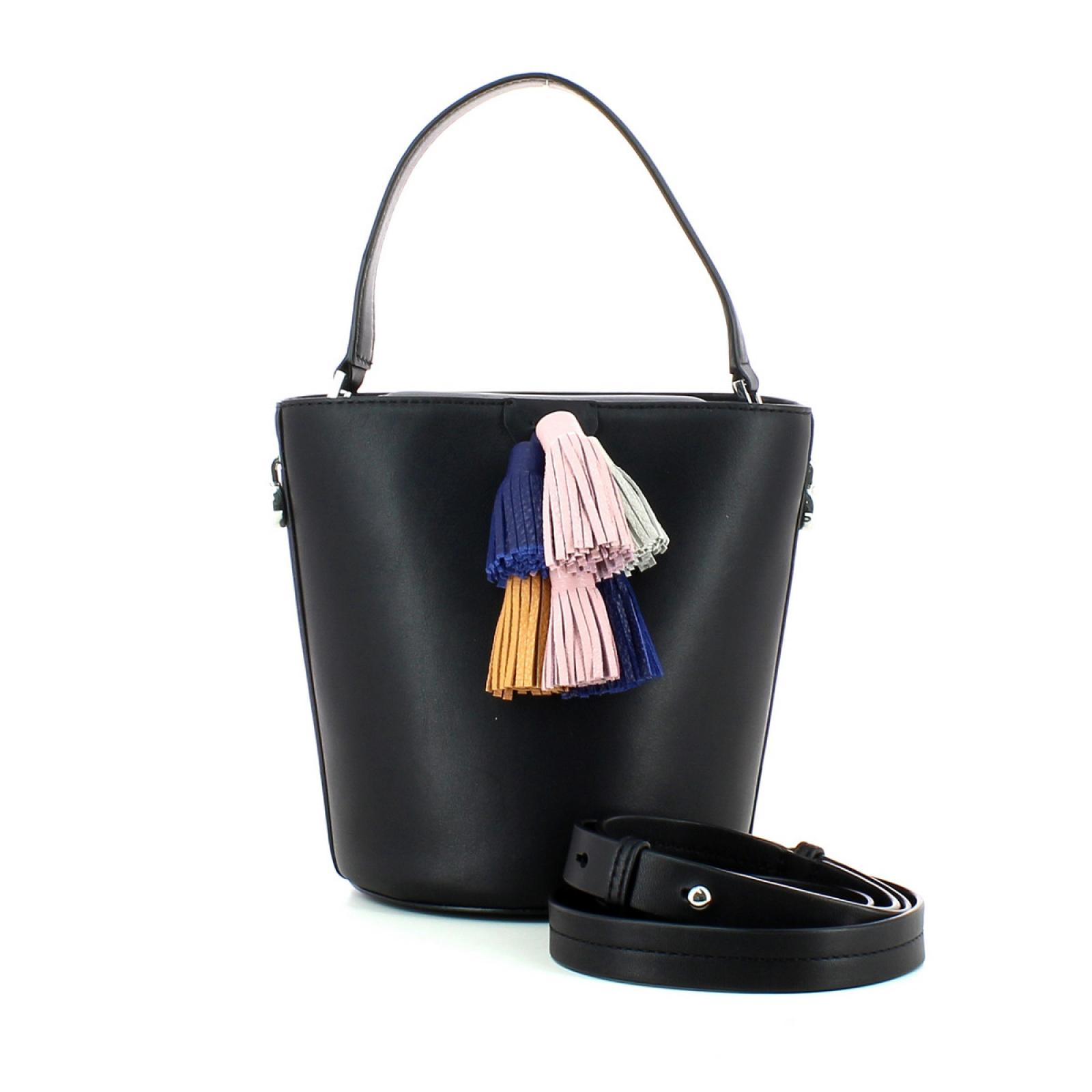 Sofia Top Handle Bucket-BLACK-UN