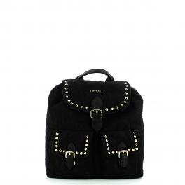 Fauxleather Backpack with lace - 1