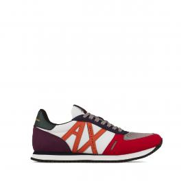 Armani Exchange Sneakers in mesh con inserti in suede - 1