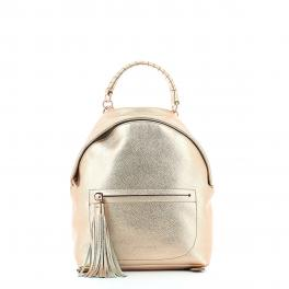 Leonie leather backpack-ROSE/GOLD-UN
