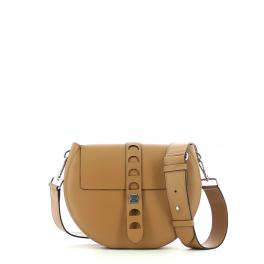 Carousel calfskin bag with single shoulder strap-CUIR-UN