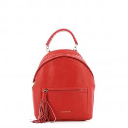 Leonie Mini Leather Backpack-COQUELICOT-UN