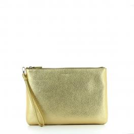 Pochette in leather-PLATINO-UN
