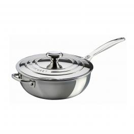 Stainless Steel Non-Stick Chef's Pan with Lid 24 cm-UN-UN