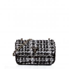 Guess Borsa a tracolla Cessily Tweed Black Multi - 1