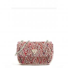 Guess Borsa a tracolla Cessily Tweed Pink Multi - 1