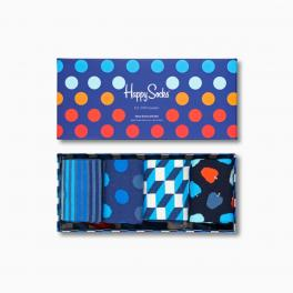 Happy Socks Navy Socks Gift Box 4-Pack - 1