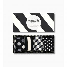 Happy Socks Classic Black And White Socks Gift Box 4-Pack - 1