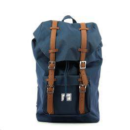 Herschel Little America Backpack Mid-Volume 13.0 Navy Tan - 1