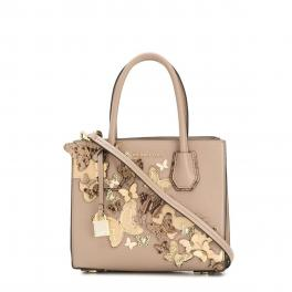 Michael Kors Borsa Mercer Medium in pelle con fiori - 1