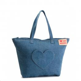Love Moschino Shopper in denim - 1
