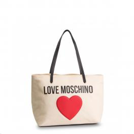Love Moschino Shopper in canvas con cuore - 1