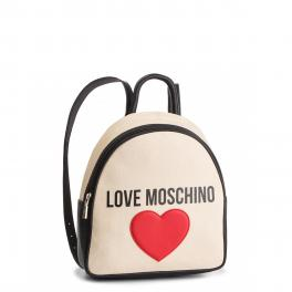 Love Moschino Zaino con cuore in canvas - 1
