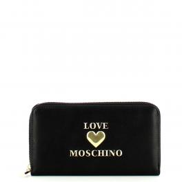 Love Moschino Portafoglio Padded Heart Zip Around - 1