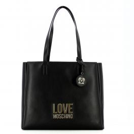 Love Moschino Shopper Gold Metal Logo - 1