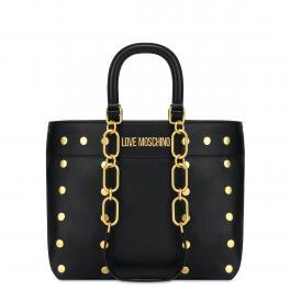Love Moschino Borsa a mano Gold Studs Nero - 1