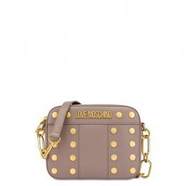 Love Moschino Camera Bag Gold Studs Grigio - 1