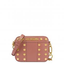 Love Moschino Camera Bag Gold Studs Rosa Antico - 1