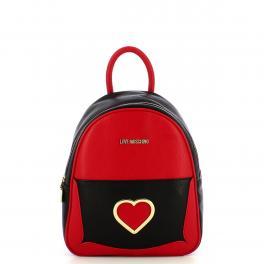 Love Moschino Zaino Cut-Out Heart Rosso Nero - 1