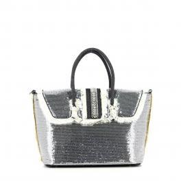 Handbag Paillettes-NERO-UN