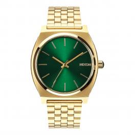 NIXO Orologio Time Teller 37 mm Gold and Green Sunray - 1