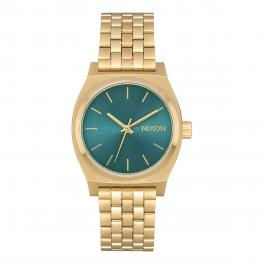NIXO Orologio Medium Time Teller 31 mm Light Gold and Turquoise - 1