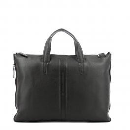 Expandable slim briefcase-MARRONE-UN