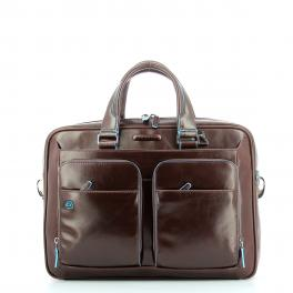 Slim Briefcase Blue Square 14.0-MOGANO-UN