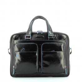 Slim Briefcase Blue Square 14.0-NERO-UN