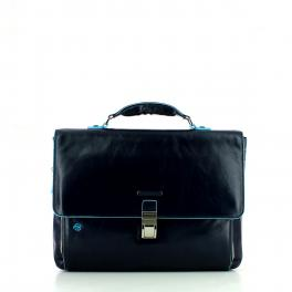 Laptop Briefcase Exp. Blue Square-BL2-UN