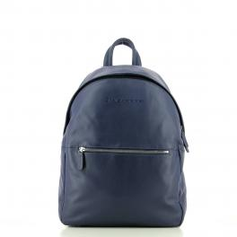 Leather Backpack-BLU-UN