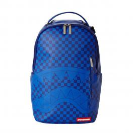 Sprayground Zaino Blue Checkered Shark Limited Edition - 1