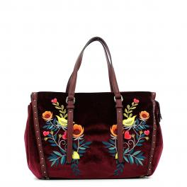 Shopping Bag Portulaca velvet-BORDEAUX-UN